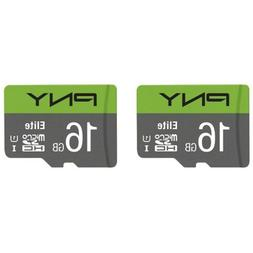 2-Pack  PNY 16GB Elite Class 10 U1 microSDHC Flash Memory Ca