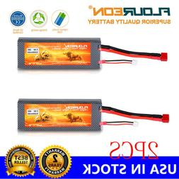 2X 5200mAh 7.4V 2S Lipo RC Battery Pack T Plug for RC Helico