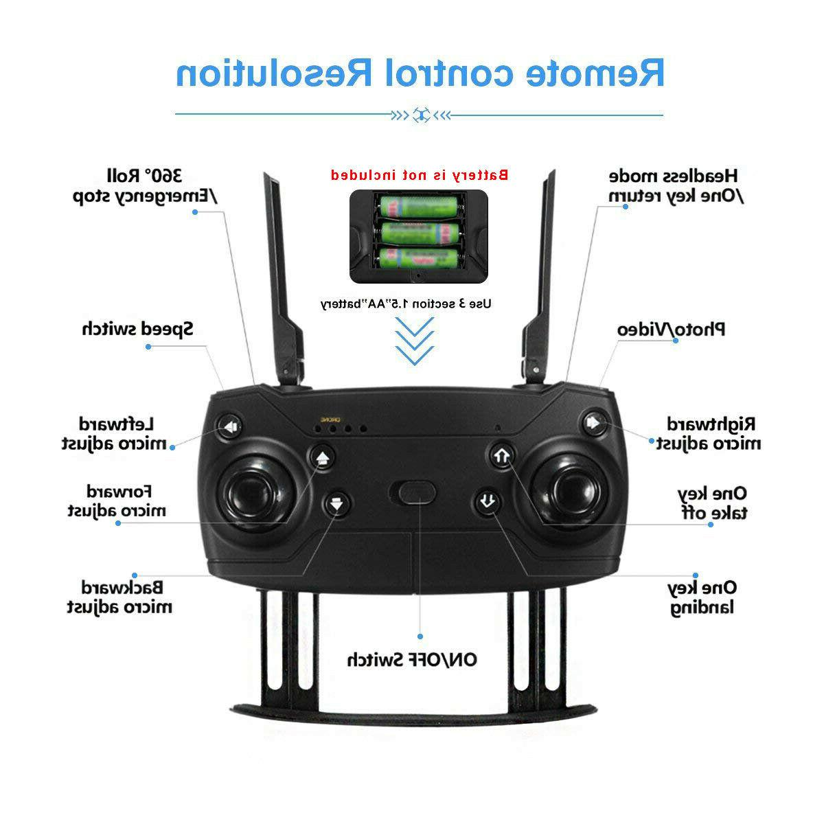 Cooligg Drone With HD Camera Aircraft Foldable Selfie