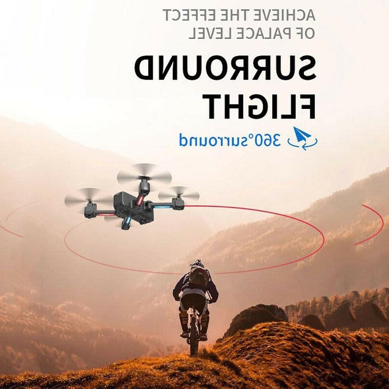 Selfie Drone HD Dual Camera 5G Foldable RC +3 Battery