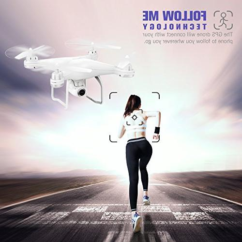RC with Live Return Home with Adjustable 1080P WiFi Camera- Altitude Hold, Control Range