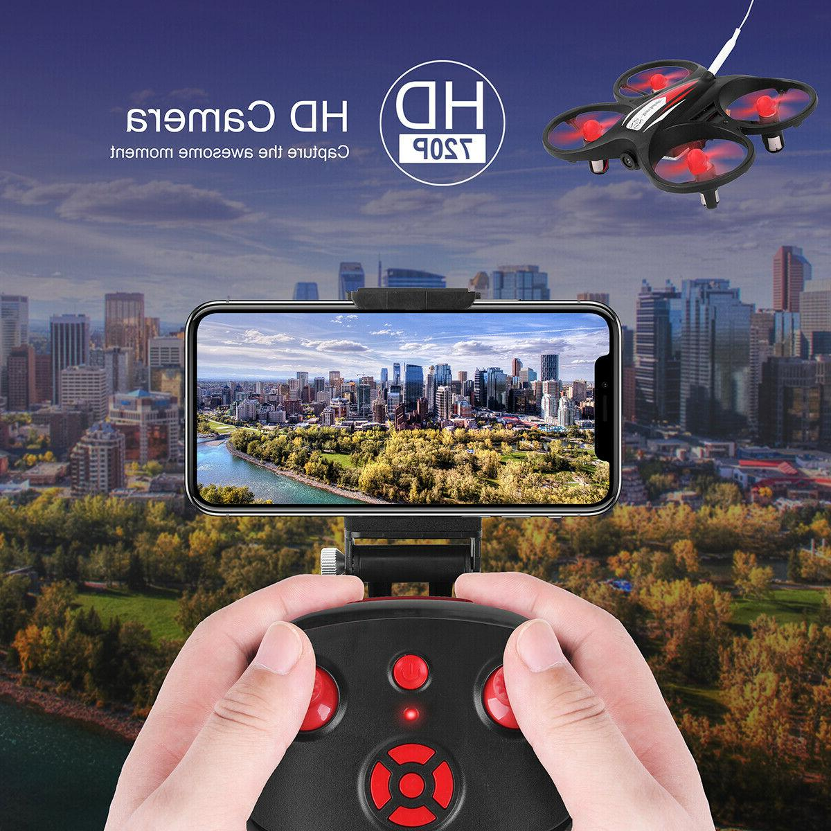Wifi FPV LED Drone Helicopter Quadcopter Remote Control