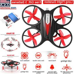 Mini LED RC Drone Helicopter Remote Control GYRO Kids Gift Q