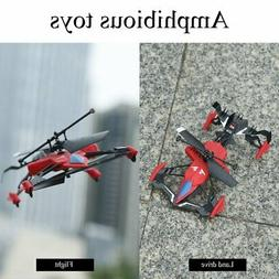 Quadcopter Car Toys 2 in 1 Air-Ground Flying Car RC Drone Qu