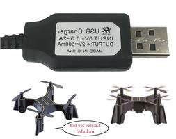USB Charger Cable Sharper Image Quadcopter DX-1 Micro Drone